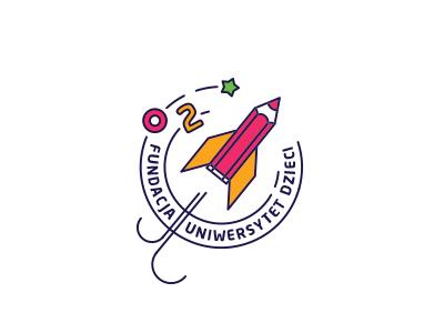 Uniwersytet dzieci #1 pencil school icon colorful kids rocket