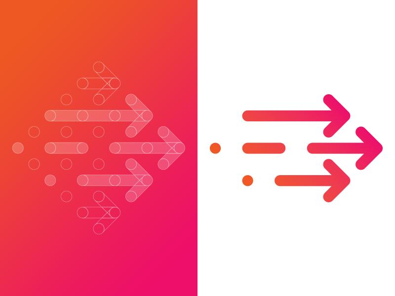 Growth! Acceleration program logo mark arrows revenue fundraising grow startup