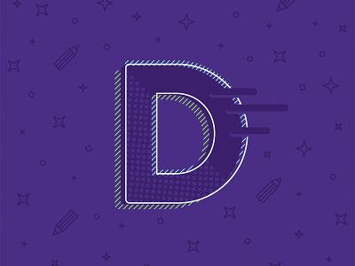 D alphabet typography typo d lettering letter