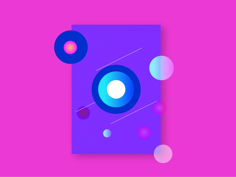 Poster Blue And Pink