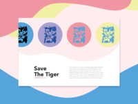 Save the Tiger-Illustration and Landing Page
