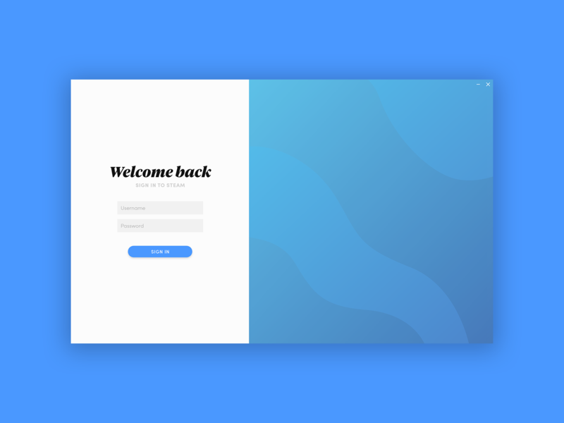 Idler Login minimal app ux ui application design
