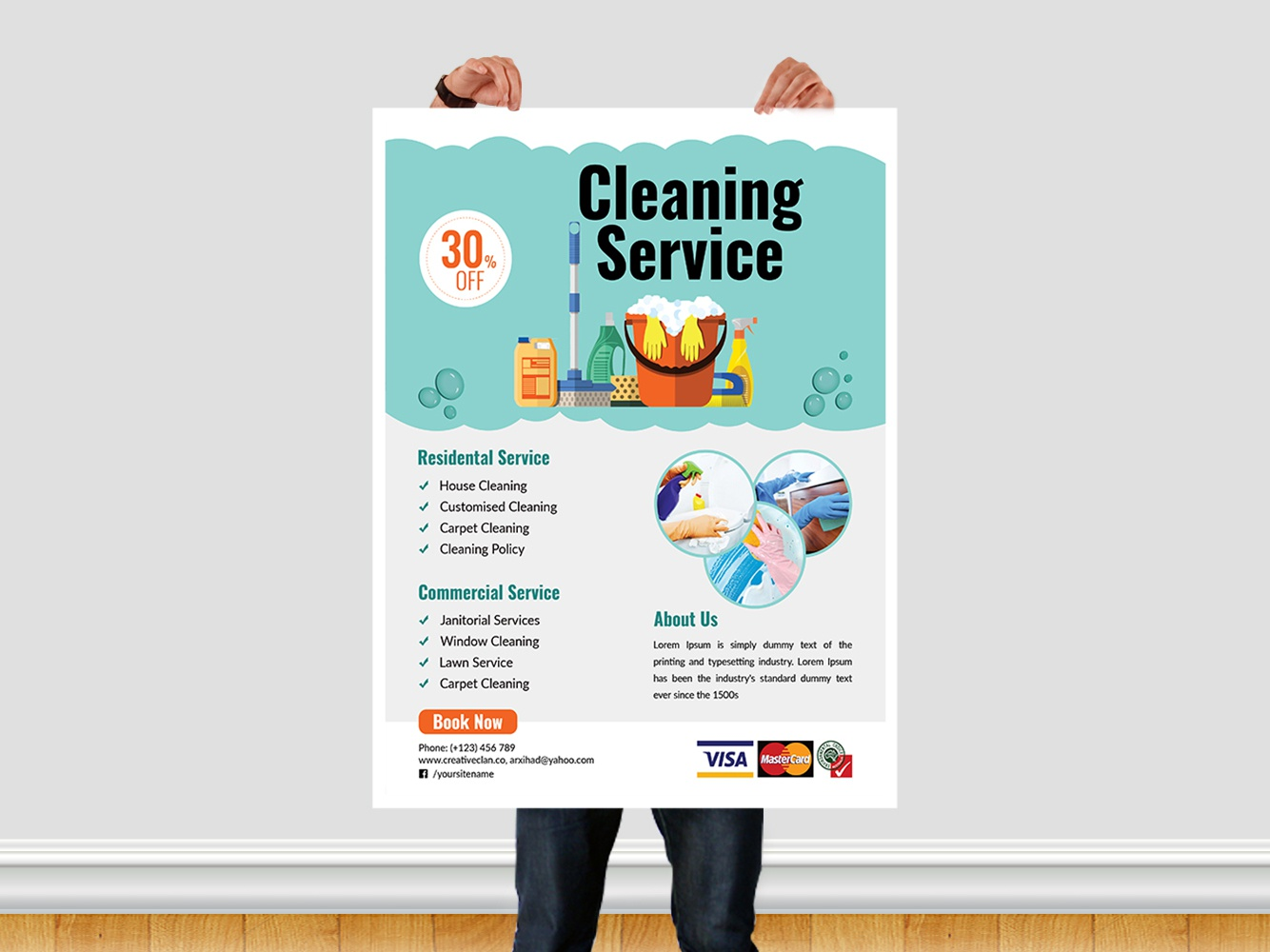 cleaning service flyer template by ar xihad on dribbble