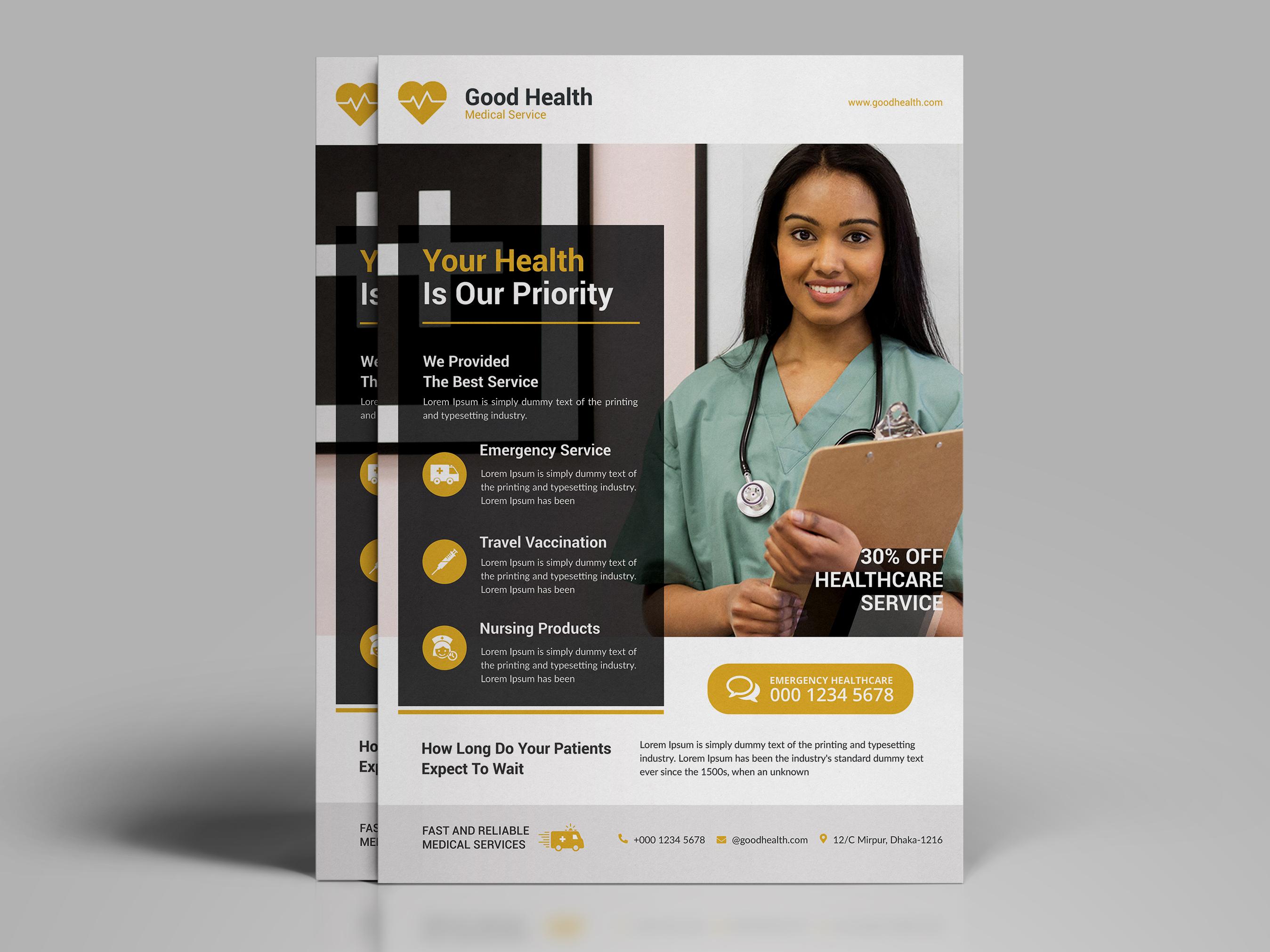 Modern healthcare flyer arxihad 2