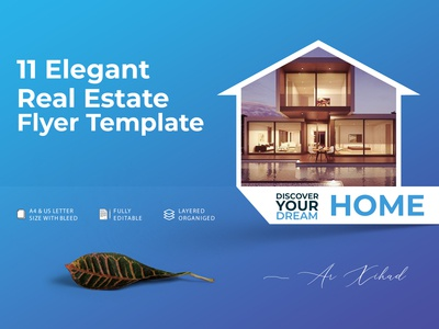 11 Elegant Real Estate Flyer Template Design Sample