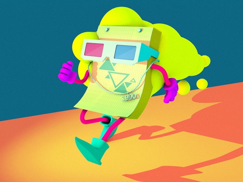 Haters gonna hate hate cinema 4d 3d c4d 90 colorful character illustration