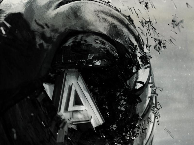 """The """"A"""" alphabet a abstract letter bw octane render octane cinema4d c4d 3d"""