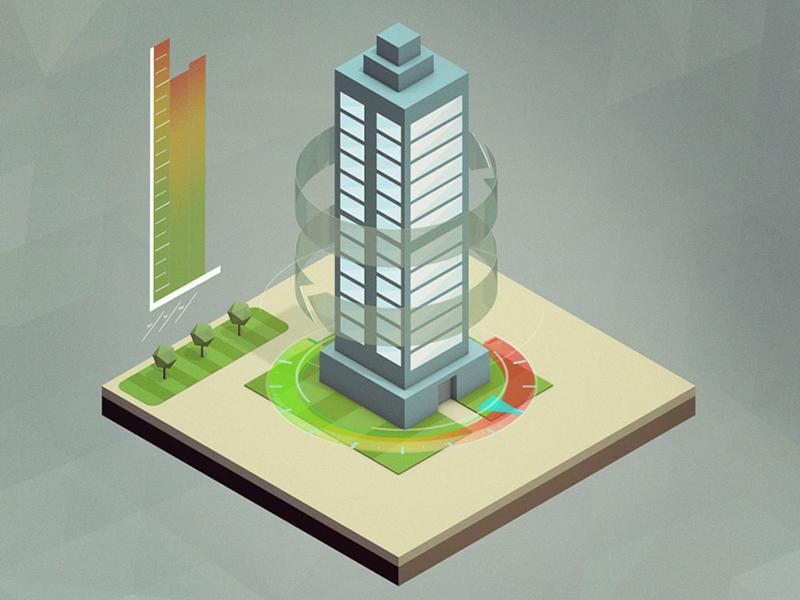 Energy Consumption ae infographic illustration c4d cinema 4d 3d building explainer isometric consumption energy