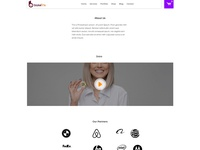 About Us page design