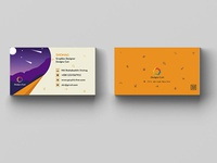 Personal Business Card with flat design