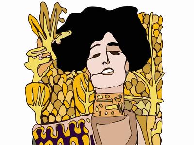 Judith- Gustav Klimt Abstract Sketch