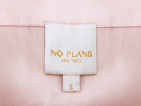 No Plans Garment Tag