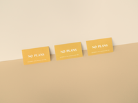 No Plans Business Cards