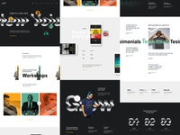 Audible Biz web design ux ui clean wavy type landing business