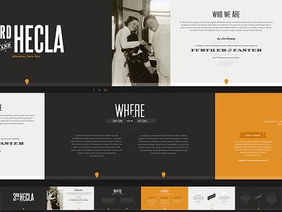 Hecla web vintage dark orange side scroll banner elegant seagulls