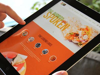 BG Concept restaurant mexican food web responsive orange elegant seagulls timeline history burrito