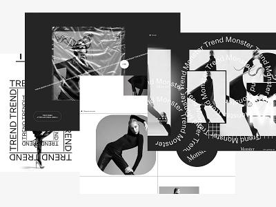 Trend Monster ui brutalism brutalist trendy modern typography type fashion mocktober
