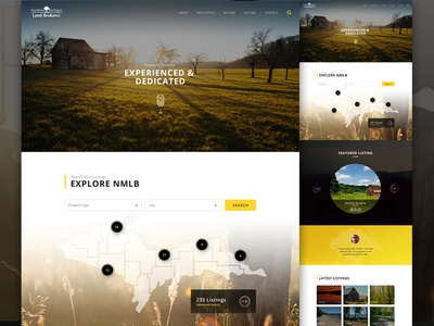 NMLB real estate web website yellow map elegant seagulls property michigan