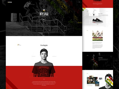 Nyjah Full art direction white space athlete im jack dusty sports e-commerce skateboard angle video elegant seagulls ecommerce