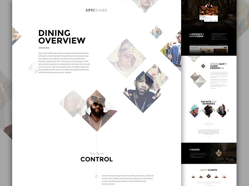 Six Plus One Full art direction fashion angle elegant seagulls ui ux diamond food restaurant rick ross landing one page