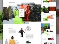 "Scott ""Sleepy"" Stevens creative direction art direction im jack dusty e-commerce web design snowboard skateboard hand drawn landing exploded grid ecommerce"