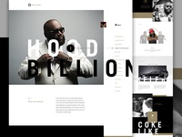 BOSS Full creative direction art direction itunes im jack dusty music player artist one page landing exploded grid ecommerce e-commerce