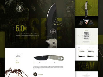 ESEE creative direction art direction product triangle timeline shop cart im jack dusty knife e-commerce ecommerce outdoor