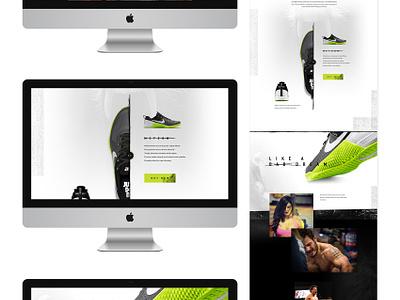 Nike Metcon creative direction art direction nike im jack dusty shoe e-commerce ecommerce shop landing grunge texture crossfit