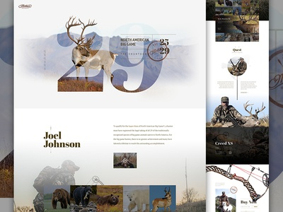 29 Full creative direction art direction shop landing one page archery nature stamp outdoors hunting e-commerce ecommerce