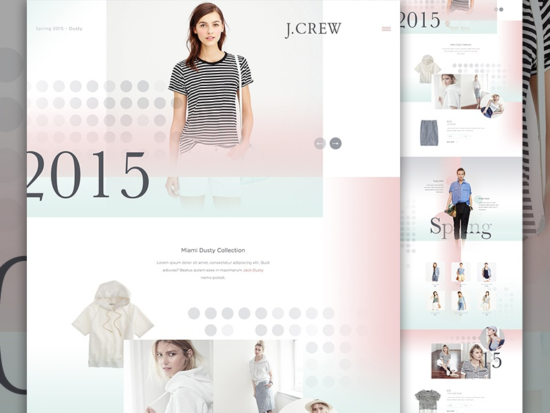 J.Crew art direction dots gradient jcrew womens store collection fashion e-commerce ecommerce im jack dusty