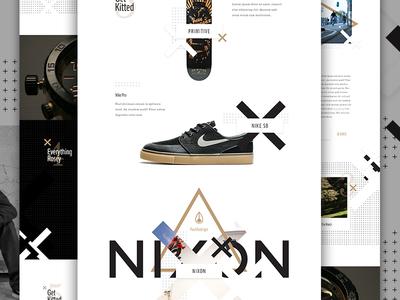 Nixon PRod shoe nixon x watch nike skateboard collection fashion e-commerce ecommerce im jack dusty elegant seagulls