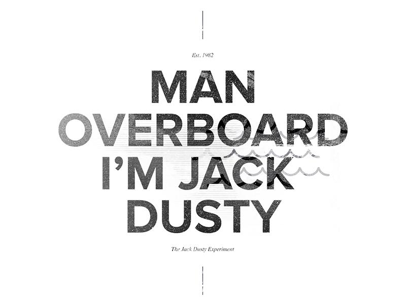 Man Overboard nautical woodblock type water texture grunge wave fashion im jack dusty elegant seagulls