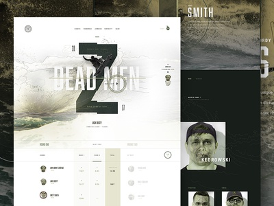 Zombie Surf League landing ui profile type ecommerce e-commerce surfing surf zombie mocktober