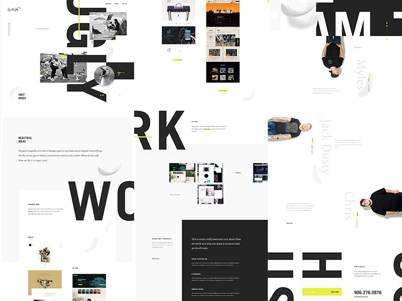 Seagulls 17 Live motion ux ui fashion typography type agency landing portfolio web