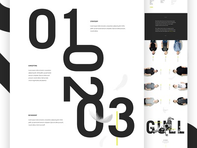 About Seagulls collage ui design ui agency team website typography type