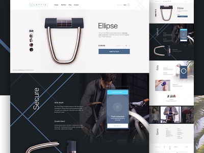 Lattis Product Page bike clean startup tech store ecommerce e-commerce product shopify