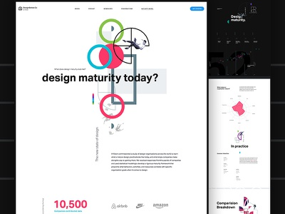 InVision - New Design Frontier Concept data visualization clean whitespace data illustration landing infographic graphs color shapes