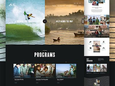 Waves 4 Water Live! donation water web design branding e-commerce ux ui action sports non profit nonprofit