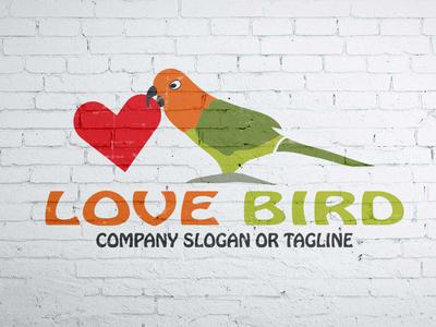 Lovebird logo wing vector travel hope happy freedom fly dove company bird