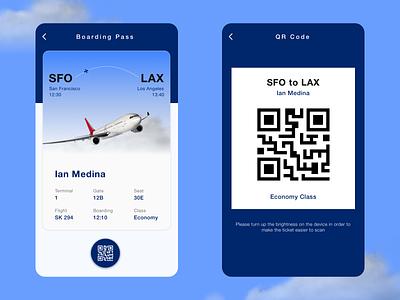 Daily UI #024 Boarding Pass boardingpass qrcode mobile ui mobile dailyui design ux design ux ui design sketchapp ui