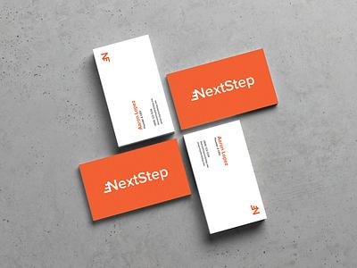 NextStep Business Cards texture vector branding logo mockup physical design graphic design illustrator business cards