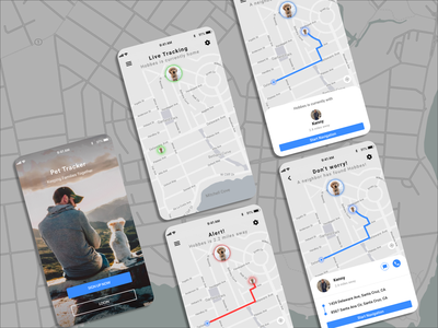 Daily UI #020 Location Tracker app design ux design ux mobile ui mobile dailyui ui design sketchapp ui