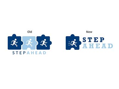 Step Ahead Logo Redesign logo design nonprofit autism typogaphy vector illustrator branding logoredesign logo