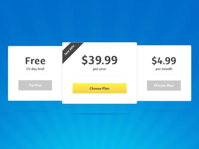 Pricing Table web price pricing table table ui ux lemon argentina aerolab lucas