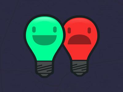 Logo logo acanohayluz aerolab brand light lightbulb smile sad argentina lucas blackout map