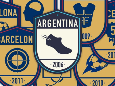 Badges for Messi messi badges argentina barcelona icons print aerolab lucas