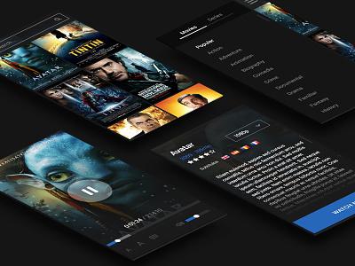 Remote Control remote control ios7 movies argentina lucas app mobile ui ux