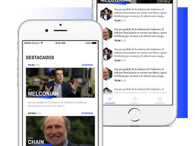 News Exploration 🗞 reading simple app exploration news feed news ios