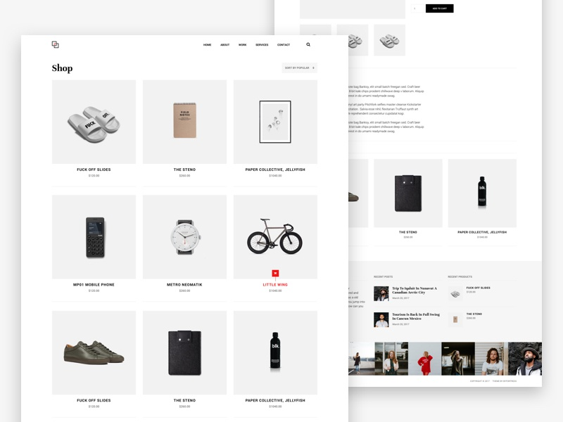 Shop argentina minimal ux ui theme website web design shop