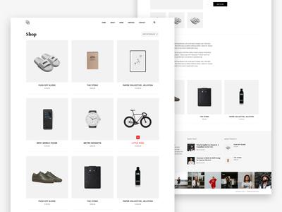 Shop argentina minimal ux ui theme website web design shop